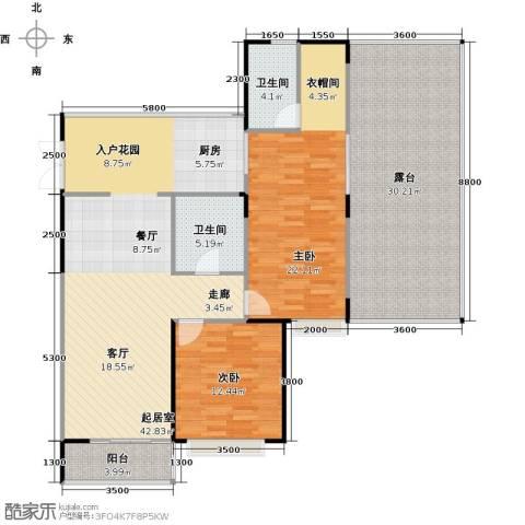 雅居乐云南原乡2室2厅2卫0厨120.87㎡户型图