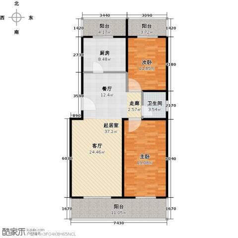 众智慧谷2室2厅1卫0厨108.00㎡户型图