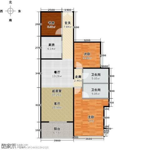 金亨利都荟首府2室2厅2卫0厨93.02㎡户型图