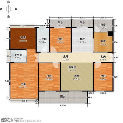 金亨利都荟首府5室2厅2卫0厨143.00㎡户型图