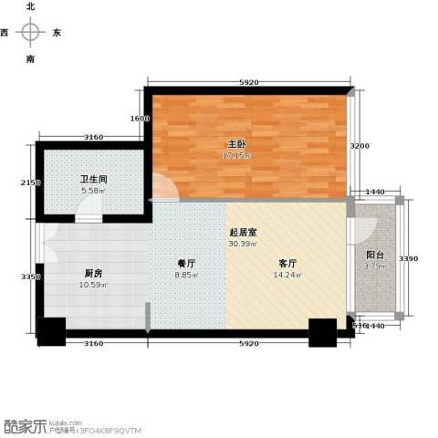 建邦・礼仕阁1室1厅1卫0厨84.00㎡户型图