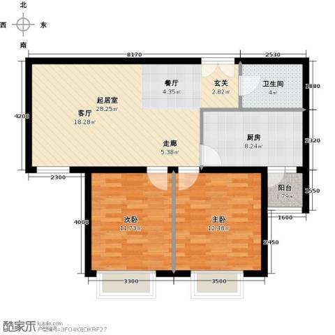 世纪星城・全朝阳2室2厅1卫0厨100.00㎡户型图