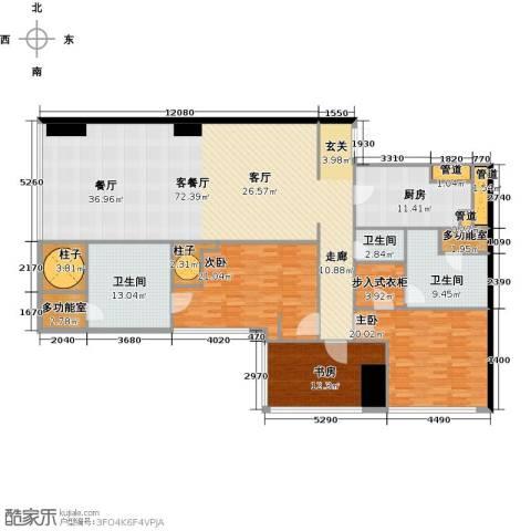 东方之门3室2厅3卫0厨217.00㎡户型图
