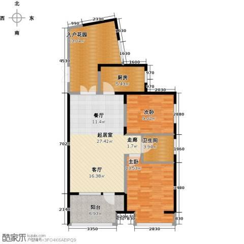 永泰枕流GOLF公寓2室2厅1卫0厨97.00㎡户型图