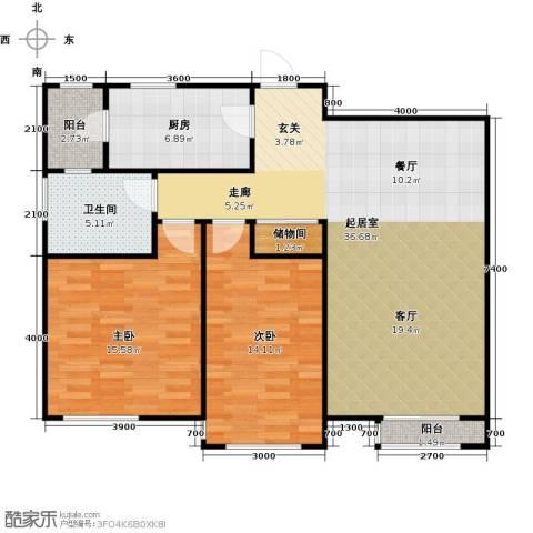 格调艺术领地2室2厅1卫0厨115.00㎡户型图