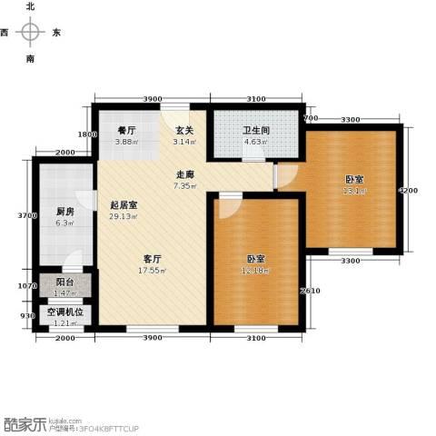 太阳星城3期2室2厅1卫0厨94.00㎡户型图