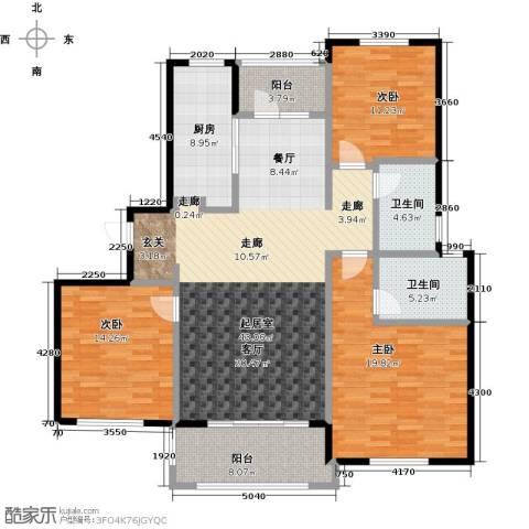中信森林湖香樟林3室2厅2卫0厨132.00㎡户型图
