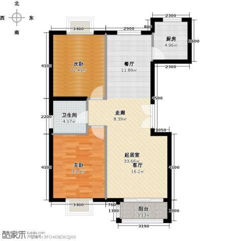世纪星城・全朝阳2室2厅1卫0厨85.00㎡户型图