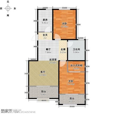 心泊馨城2室2厅1卫0厨95.00㎡户型图