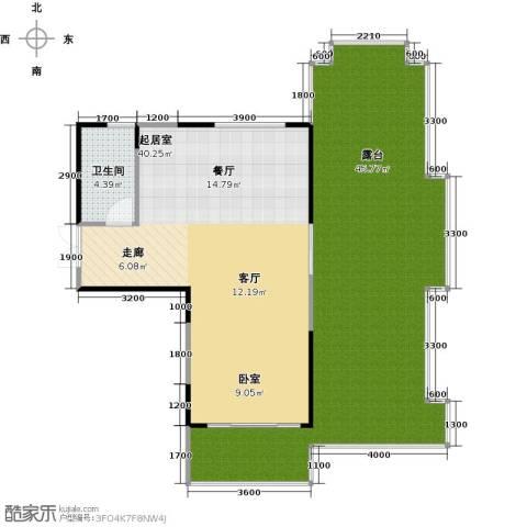雅居乐云南原乡1室2厅1卫0厨95.00㎡户型图