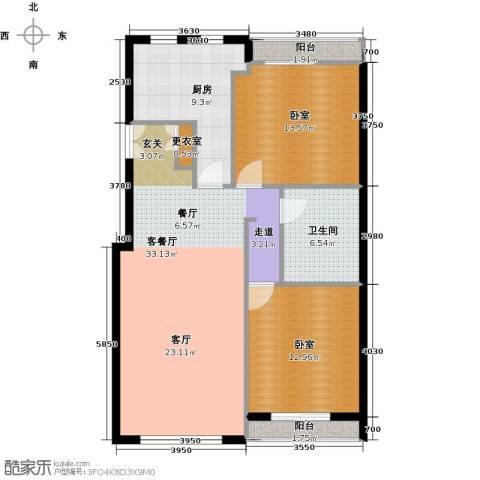 力宝广场・诗礼庭110.00㎡户型图