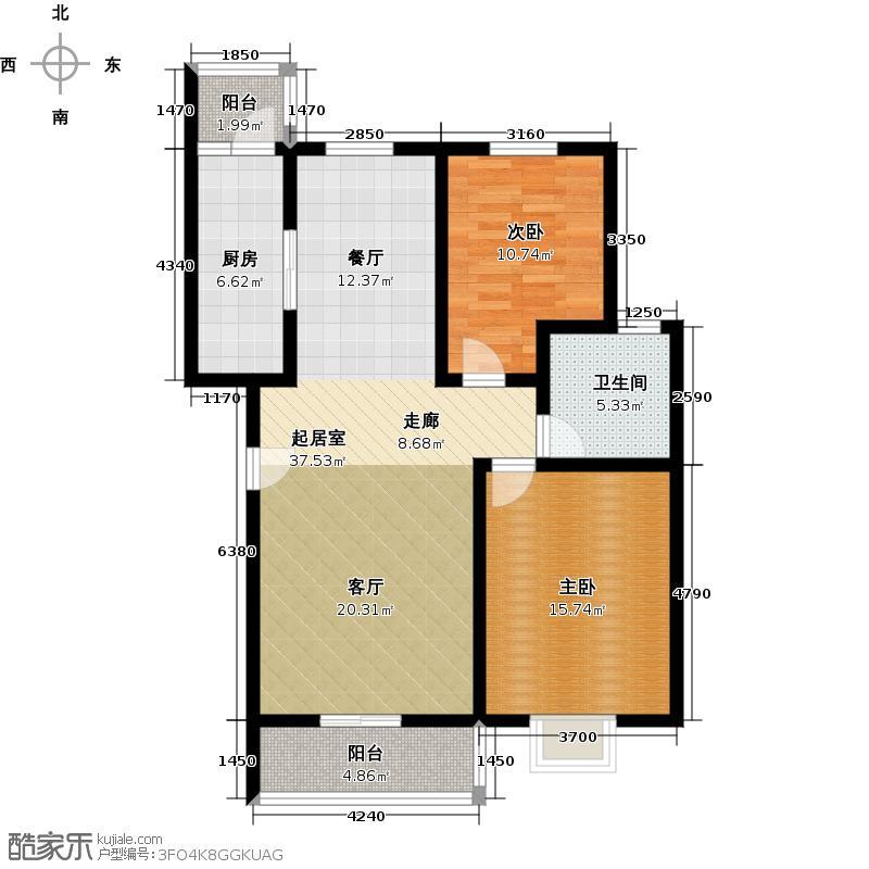 天地新城95.20㎡B区1B户型10室