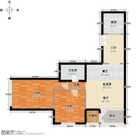 建邦・礼仕阁2室2厅1卫0厨135.00㎡户型图
