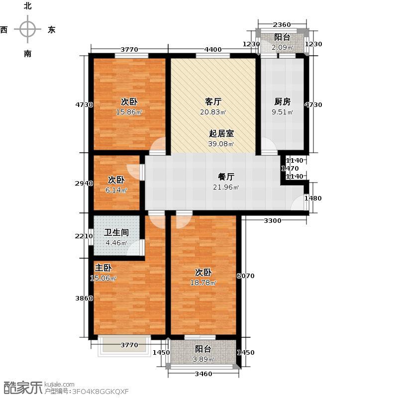 天地新城131.21㎡B区2A户型10室
