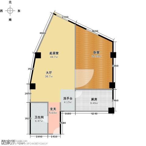 天通・公园里商住1室1厅1卫0厨94.00㎡户型图