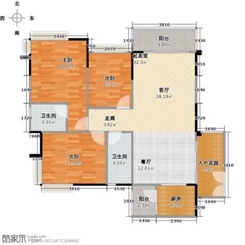纯水岸3室2厅2卫0厨98.38㎡户型图