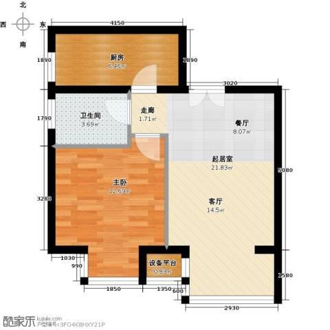 中铁置业・翰庭65.00㎡户型图