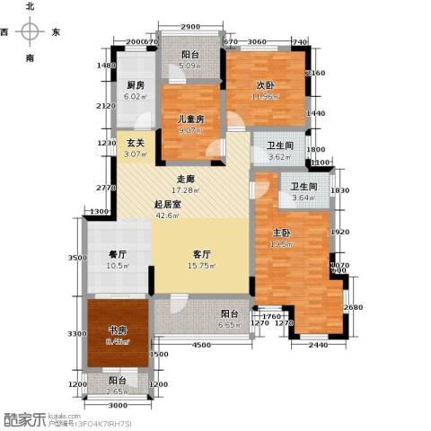 金地滟澜山4室2厅2卫0厨138.00㎡户型图