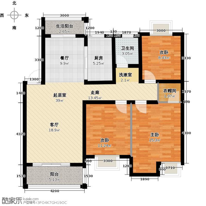 西子莲花111.17㎡享受型C02、05户型3室2厅1卫