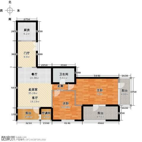 建邦・礼仕阁2室2厅1卫0厨150.00㎡户型图