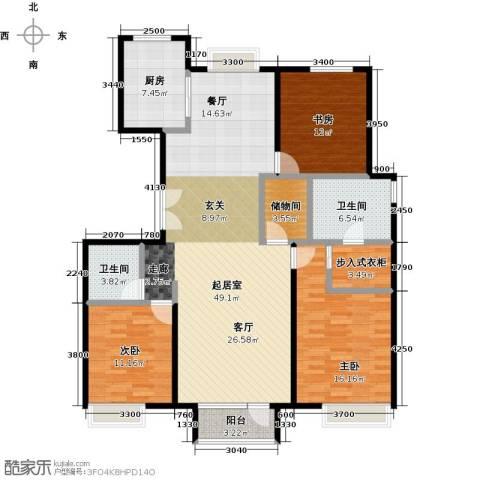 金第万科・朗润园3室2厅2卫0厨155.00㎡户型图