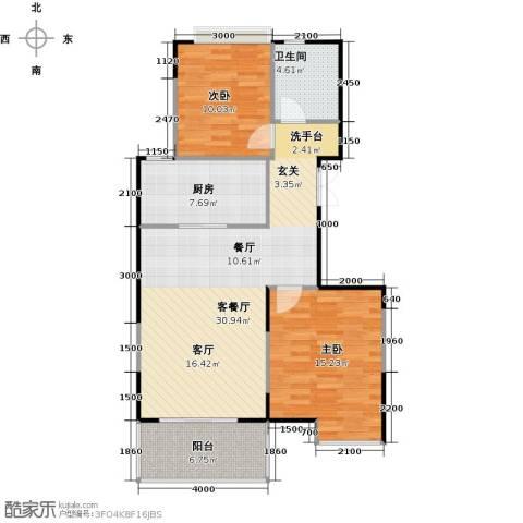益田影人四季花园2室2厅1卫0厨100.00㎡户型图