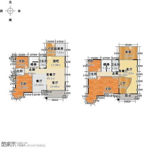 瑞安花园5室3厅3卫0厨282.00㎡户型图