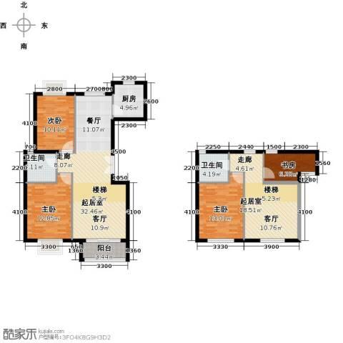 世纪星城・全朝阳4室2厅2卫0厨140.00㎡户型图