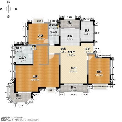 澜调国际3室2厅2卫0厨170.00㎡户型图