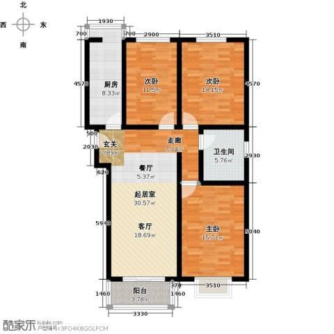 天地新城3室3厅1卫0厨103.00㎡户型图