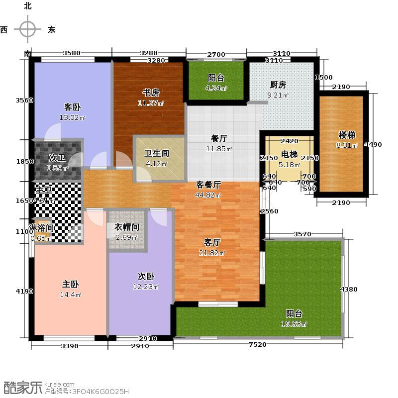 和家园160.00㎡户型10室