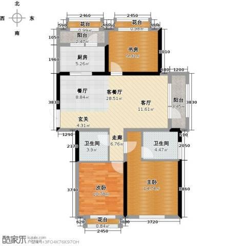 地恒托斯卡纳3室1厅2卫0厨85.72㎡户型图