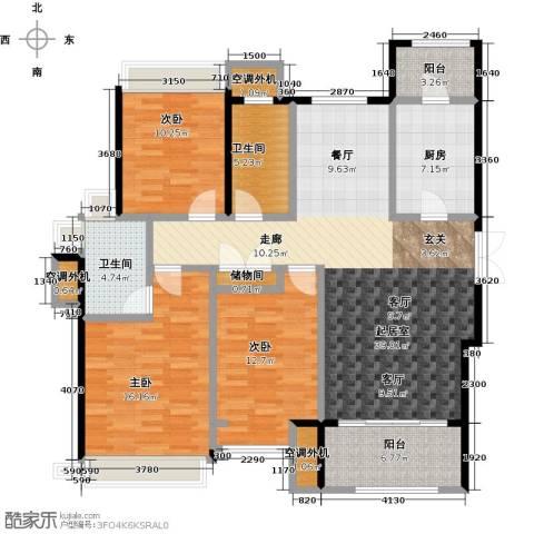 白塘壹号3室2厅2卫0厨133.00㎡户型图