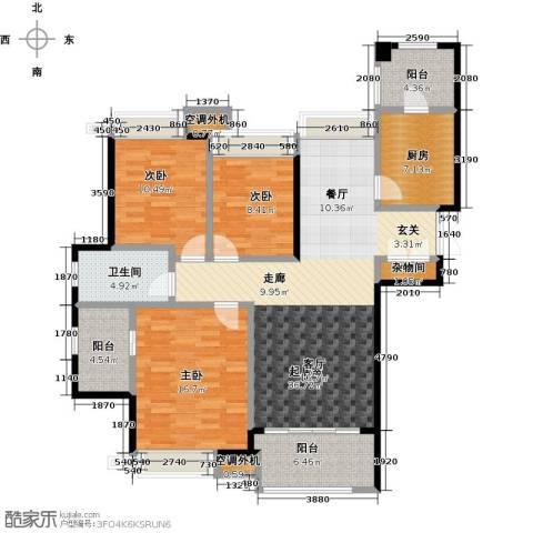 白塘壹号3室2厅2卫0厨125.00㎡户型图