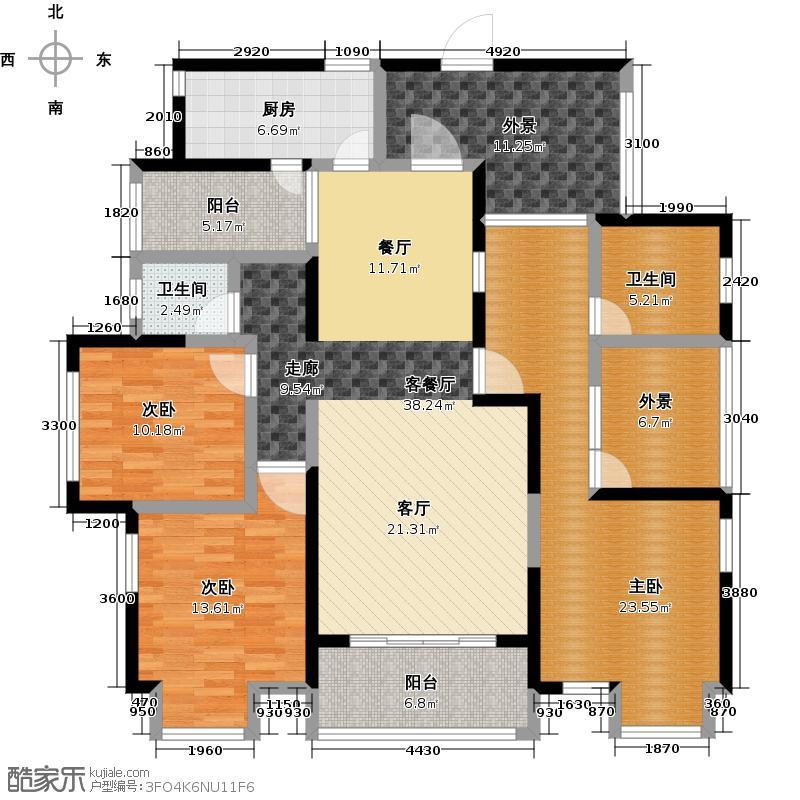 三泰檀香山150.66㎡户型10室