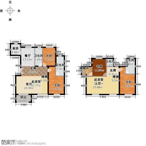 世纪星城・全朝阳4室2厅4卫0厨214.00㎡户型图