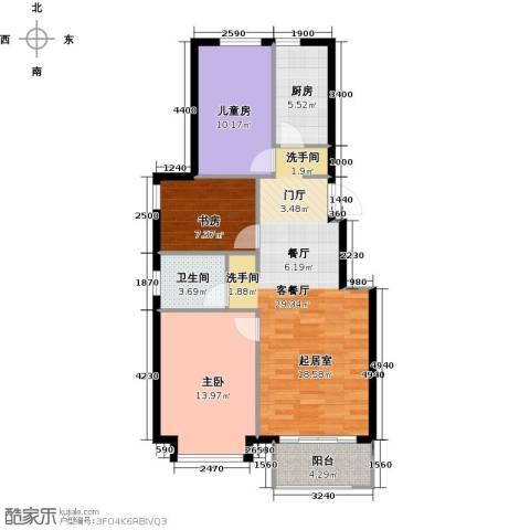 北京城建・海梓府3室2厅1卫0厨104.00㎡户型图