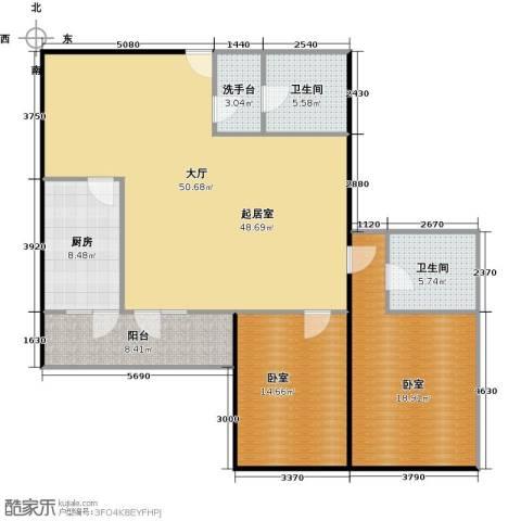 天通・公园里商住2室1厅2卫0厨121.00㎡户型图