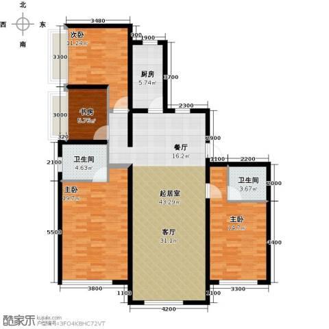 保利・罗兰香谷4室2厅2卫0厨139.00㎡户型图