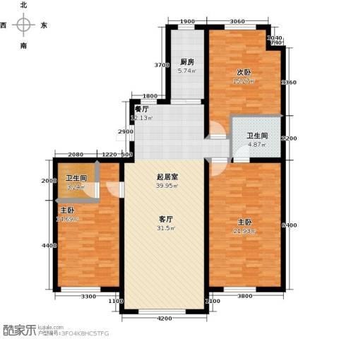 保利・罗兰香谷3室2厅2卫0厨130.00㎡户型图