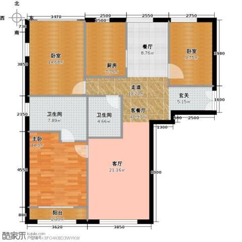 力宝广场・诗礼庭140.00㎡户型图