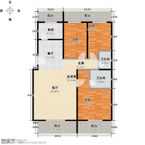 众智慧谷3室2厅2卫0厨186.00㎡户型图