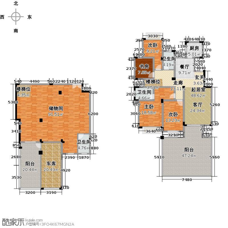 欧莱雅郡143.00㎡洋房一楼享斑斓户型4室2厅2卫