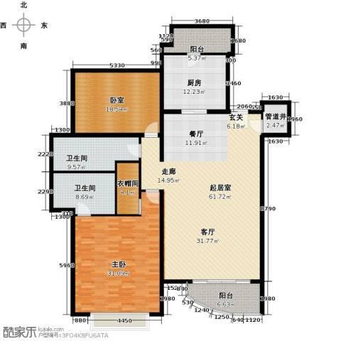 棕榈泉白金公寓176.00㎡户型图