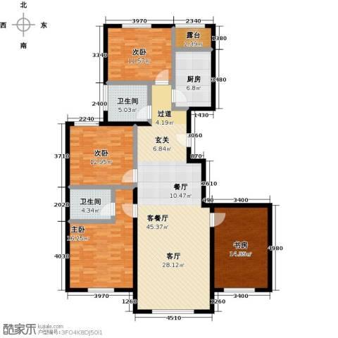 融科钧廷二期4室2厅2卫0厨136.00㎡户型图