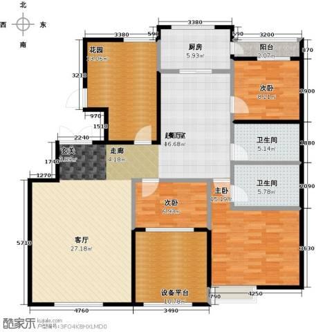 大苑・海淀名著4室2厅2卫0厨142.00㎡户型图