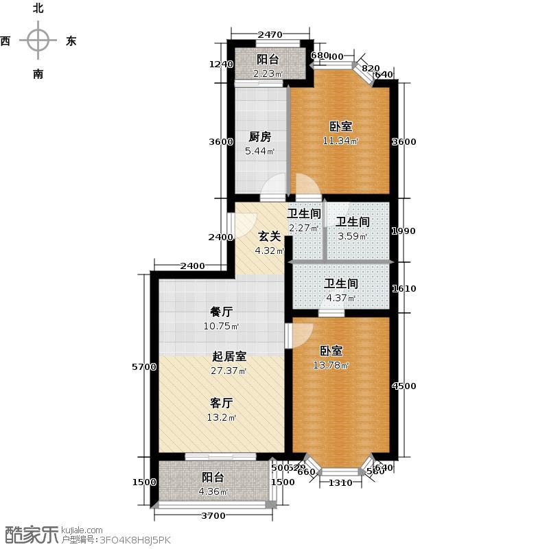 顺鑫澜庭83.73㎡C户型10室