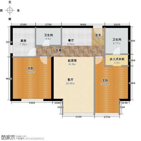 德胜君玺2室2厅2卫0厨141.00㎡户型图