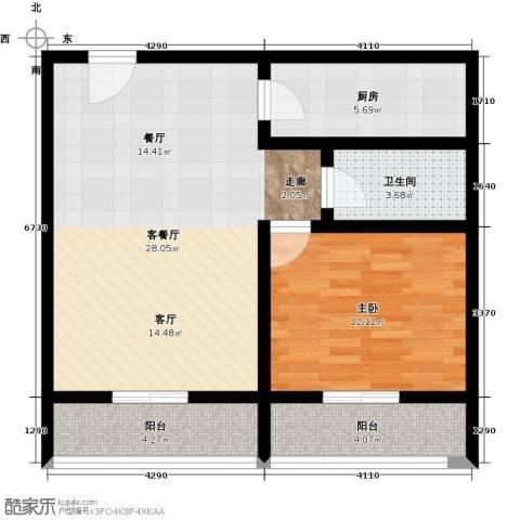 恒泰公馆1室1厅1卫0厨84.00㎡户型图