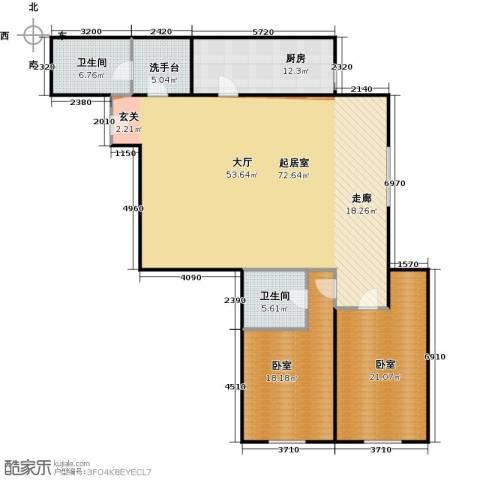 天通・公园里商住2室1厅2卫0厨152.00㎡户型图